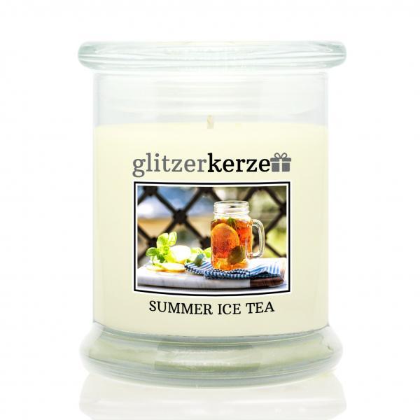 glitzerkerze - Duftkerze - Summer Ice Tea