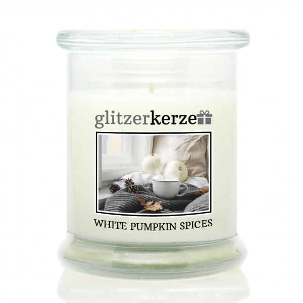 glitzerkerze - Duftkerze - White Pumpkin Spices