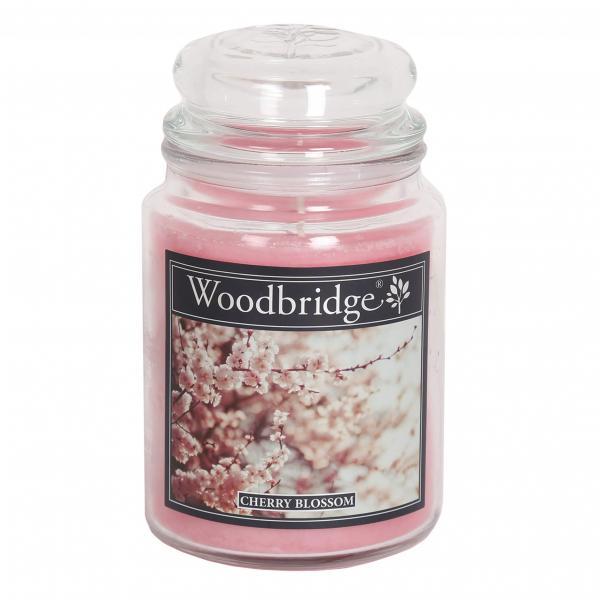 Woodbridge Candle - Große Duftkerze im Glas - Cherry Blossom