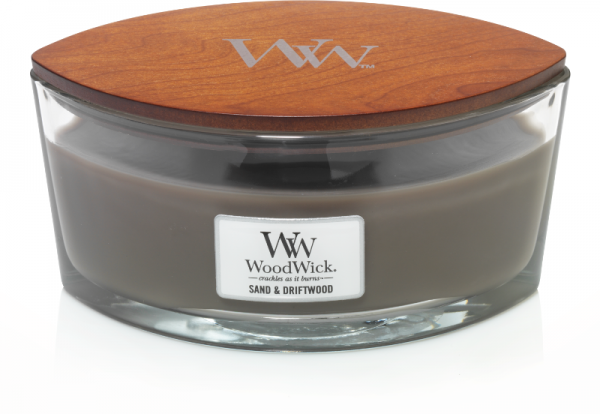 WoodWick - Hearthwick Ellipse Jar - Sand & Driftwood