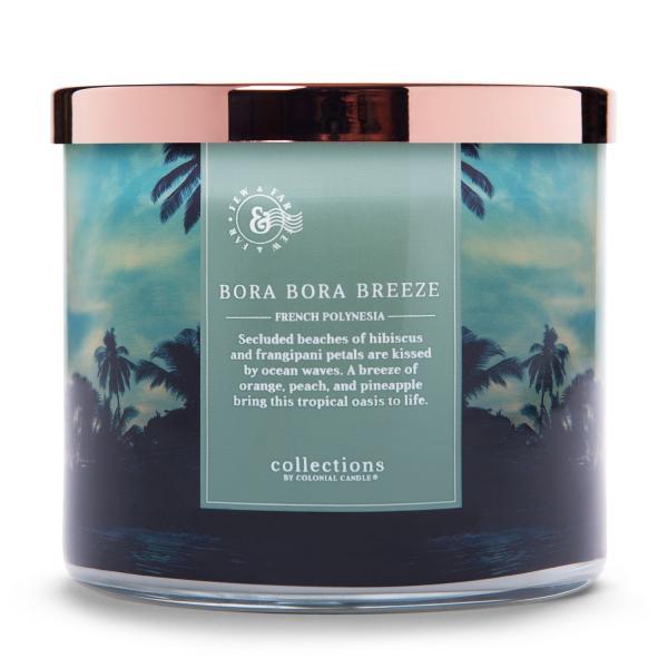 Colonial Candle - Mittlere Duftkerze im Glas - Travel Collection - Bora Bora Breeze