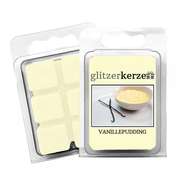 glitzerkerze - Duftwachs Vanillepudding