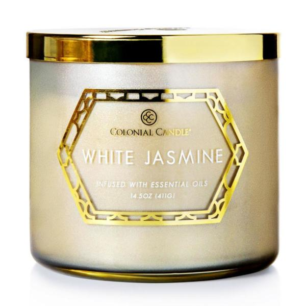 Colonial Candle - Mittlere Duftkerze im Glas - Everyday Luxe - White Jasmine