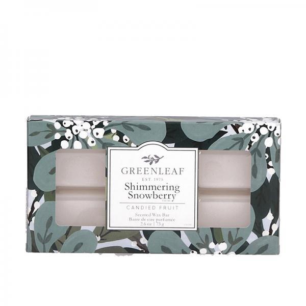 Greenleaf - Duftwachs / Wax Bar - Shimmering Snowberry Δ