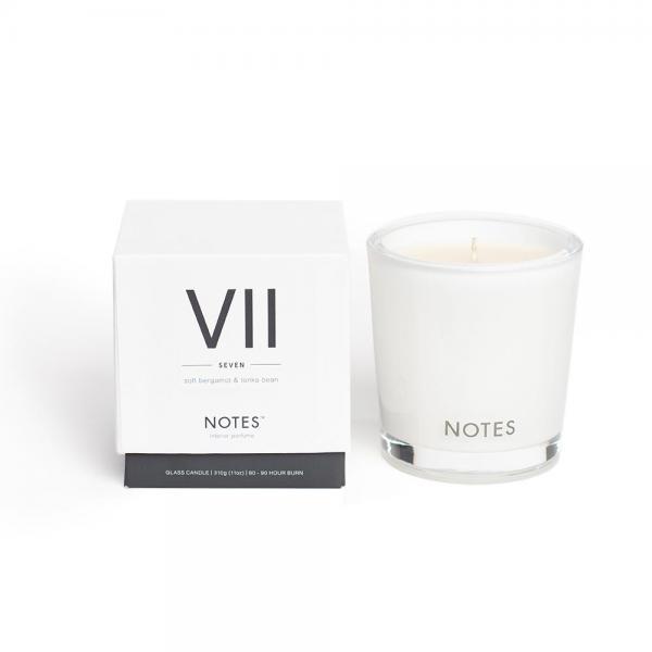 NOTES - Medium Candle Glass - Duftkerze - VII - Seven - Soft Bergamot & Tonka Bean