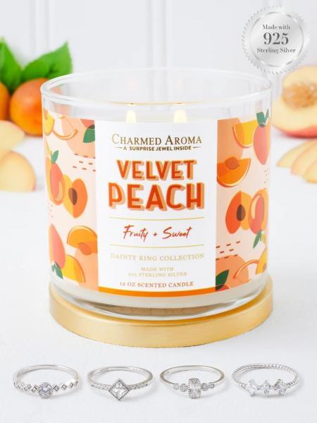 Charmed Aroma - Duftkerze mit Schmuck - Velvet Peach (Ring)