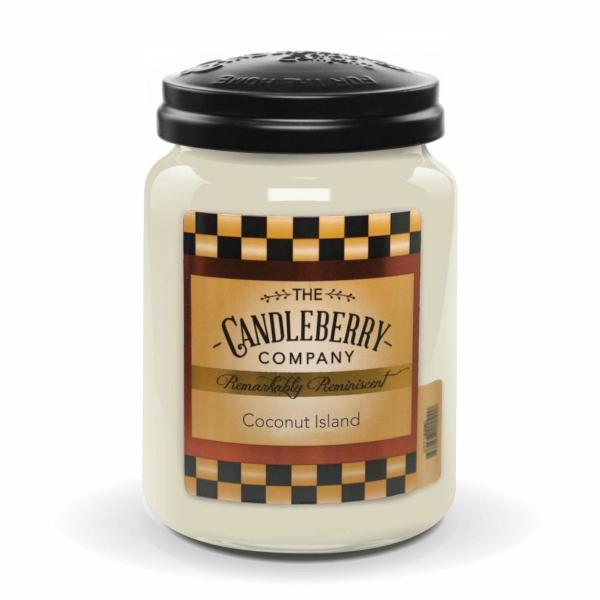 Candleberry - Duftkerze im Glas - Coconut Island