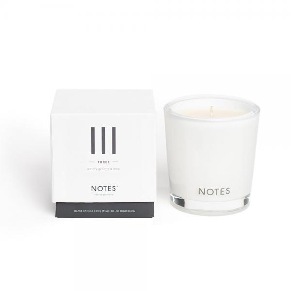 NOTES - Medium Candle Glass - Duftkerze - III - Three - Watery Greens & Lime