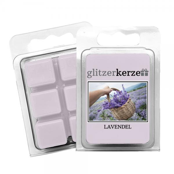 glitzerkerze - Duftwachs Lavendel
