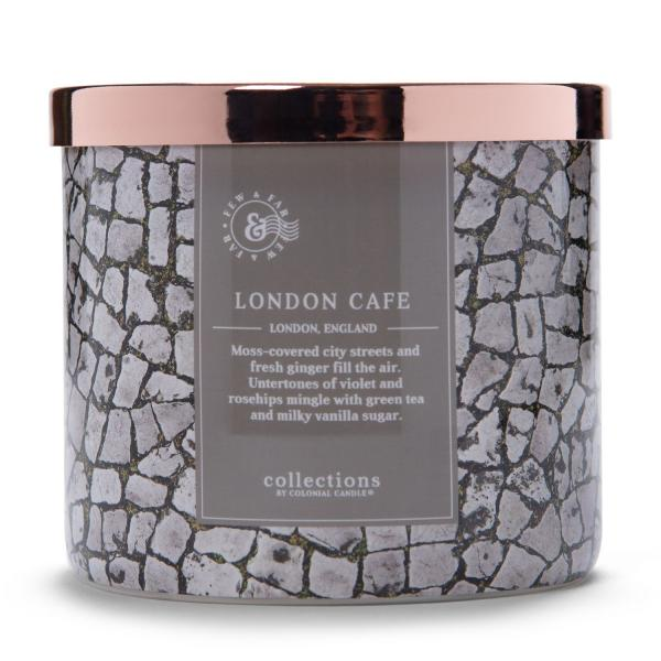Colonial Candle - Mittlere Duftkerze im Glas - Travel Collection - London Cafe