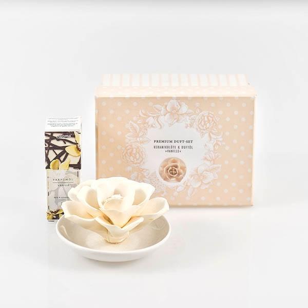 Pajoma - Premium Duft-Set Keramik - Duftöl - Vanille