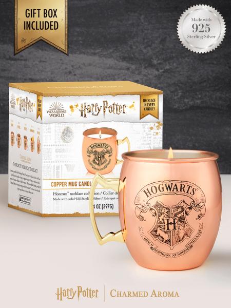 Charmed Aroma - Duftkerze mit Schmuck - Harry Potter Copper Mug Kerze (Halskette)
