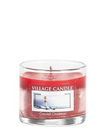 Village Candle - Mini Glass Votive Candle - Coastal Christmas