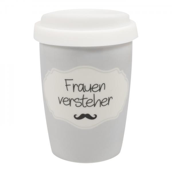 """Mea-Living - Coffee to go Becher klein """"Frauen Versteher"""""""
