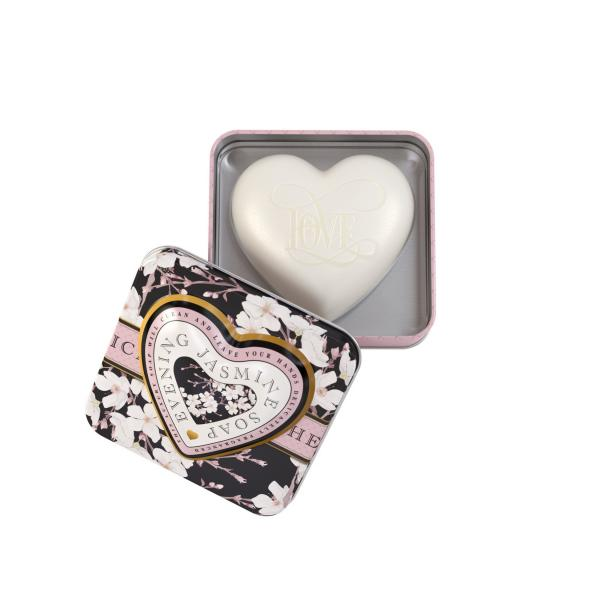 STC - Heart Shaped Tin Soap Evening Jasmine