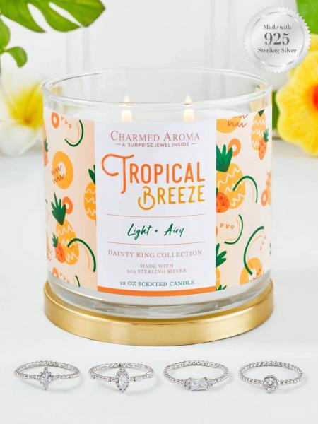 Charmed Aroma - Duftkerze mit Schmuck - Tropical Breeze (Ring)