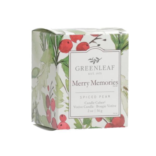Greenleaf - Candle Cube Votivkerze - Duftkerze - Merry Memories Δ