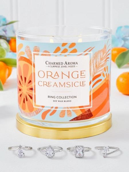 Charmed Aroma - Duftkerze mit Schmuck - Orange Creamsicle (Ring)