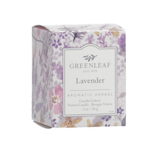 Greenleaf - Candle Cube Votivkerze - Duftkerze - Lavender