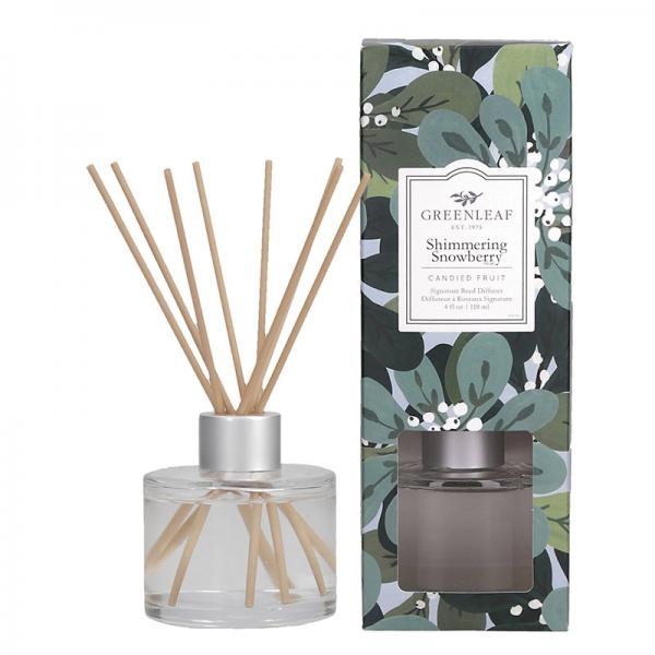 Greenleaf - Signature Reed Diffuser - Shimmering Snowberry Δ