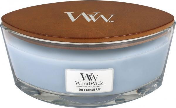 WoodWick - Hearthwick Ellipse Jar - Soft Chambray
