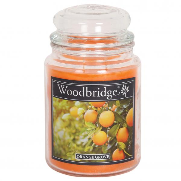 Woodbridge Candle - Große Duftkerze im Glas - Orange Grove