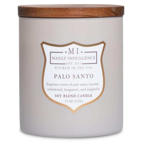 Colonial Candle - Mittlere Duftkerze im Glas - Manly Indulgence - Palo Santo