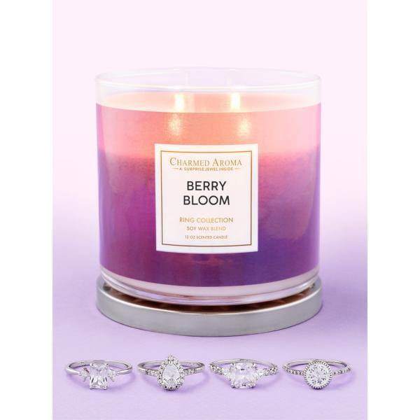 Charmed Aroma - Duftkerze mit Schmuck - Berry Bloom Kerze (Ring)