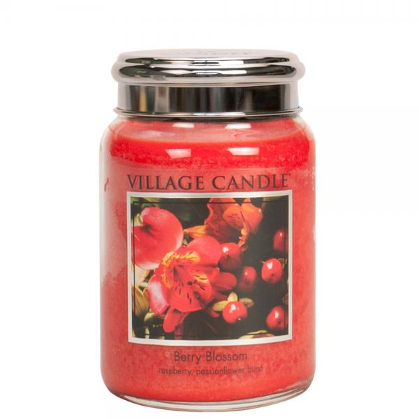 Village Candle - Large Glass Jar - Berry Blossom