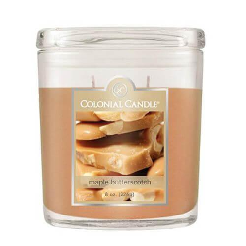 Colonial Candle - Kleine Duftkerze im Glas - Oval Collection - Maple Butterscotch