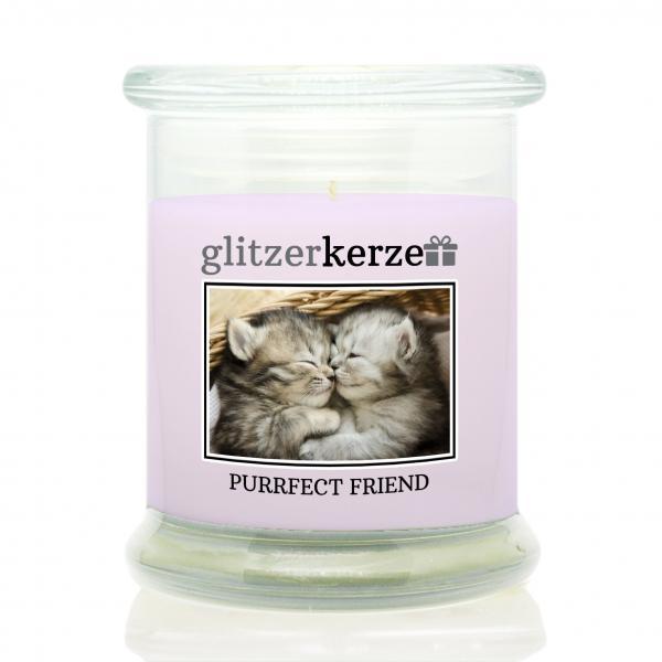 glitzerkerze - Duftkerze - Purrfect Friend