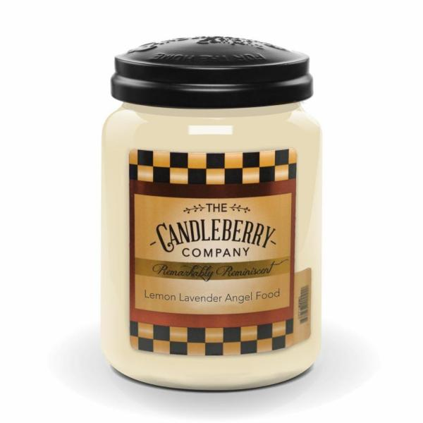 Candleberry - Duftkerze im Glas - Lemon Lavender Angelfood