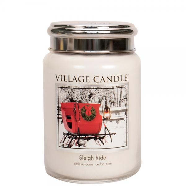 Village Candle - Large Glass Jar - Sleigh Ride