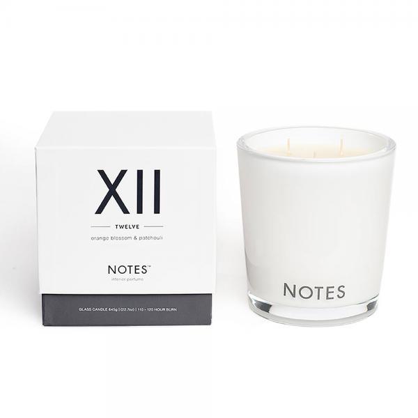 NOTES - Large Candle Glass - Duftkerze - XII - Twelve - Orange Blossom & Patchouli