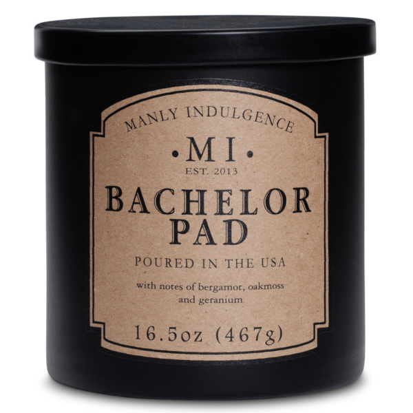 Colonial Candle - Mittlere Duftkerze im Glas - Manly Indulgence - Bachelor Pad