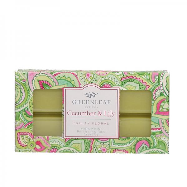 Greenleaf - Duftwachs / Wax Bar - Cucumber & Lily