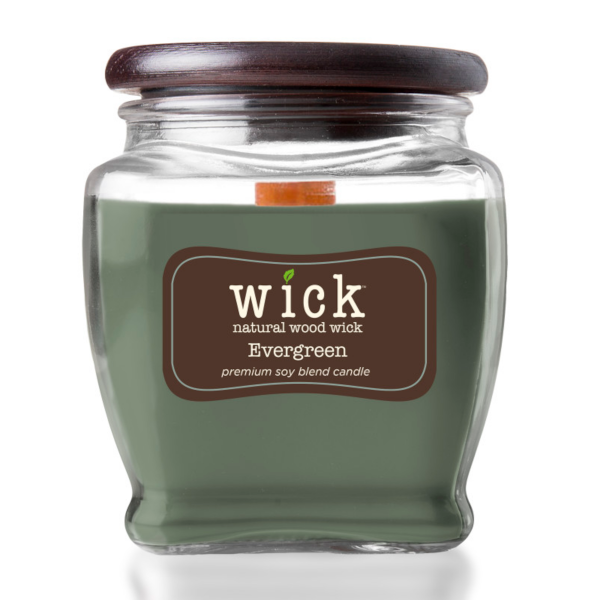 Colonial Candle - Mittlere Duftkerze im Glas - WICK Collection - Evergreen
