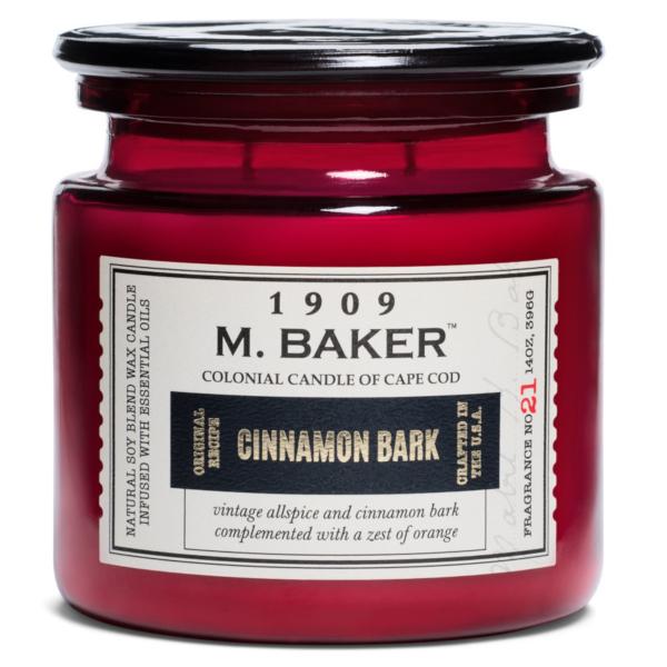 Colonial Candle - Mittlere Duftkerze im Glas - M. Baker - Cinnamon Bark