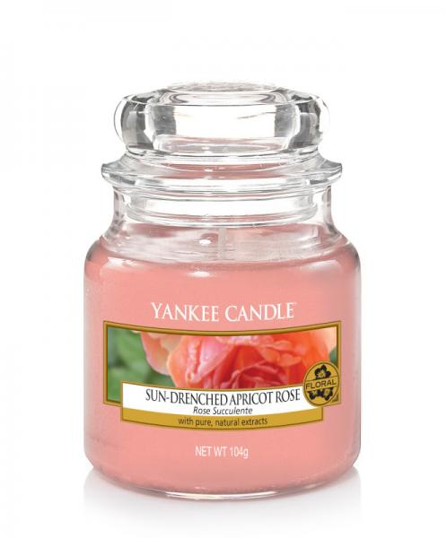 Yankee Candle - Classic Small Jar Housewarmer - Sun-Drenched Apricot Rose