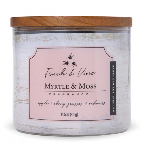 Colonial Candle - Mittlere Duftkerze im Glas - Finch & Vine - Myrtle & Moss