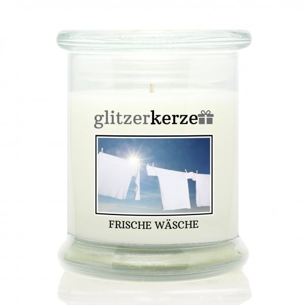 glitzerkerze - Duftkerze - Frische Wäsche