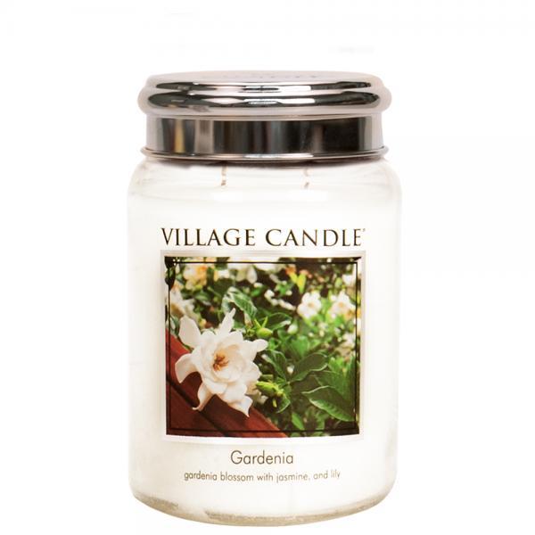 Village Candle - Large Glass Jar - Gardenia