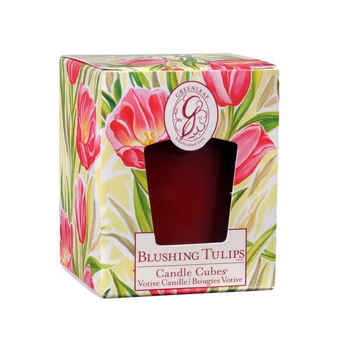 *Greenleaf - Candle Cube Votivkerze - Duftkerze - Blushing Tulips