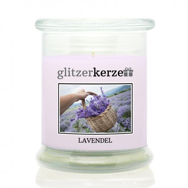 glitzerkerze - Duftkerze - Lavendel