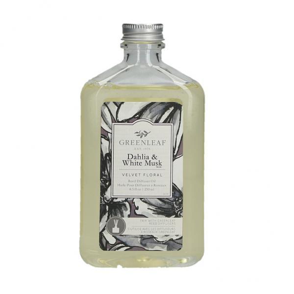 Greenleaf - Reed Diffuser Oil - Reedöl - Dahlia & White Musk