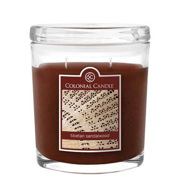 Colonial Candle - Kleine Duftkerze im Glas - Oval Collection - Tibetan Sandalwood