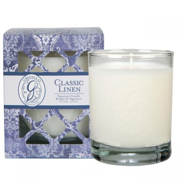 Greenleaf - Duftkerze im Glas - Signature Candle - Classic Linen