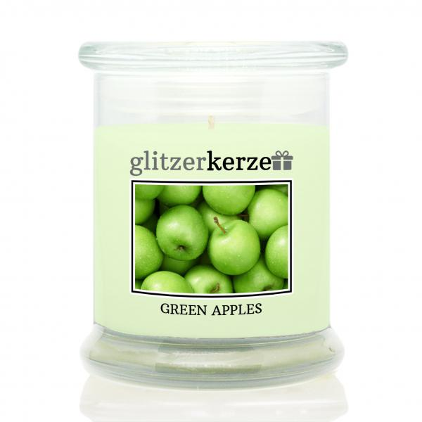 glitzerkerze - Duftkerze - Green Apples