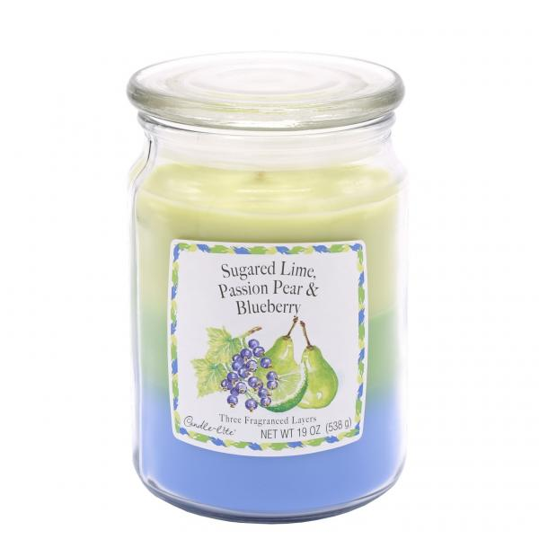 Candle-Lite Company - 3-Layer Duftkerze - Large Jar - Sugared Lime, Passion Pear, Blueberry