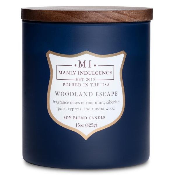 Colonial Candle - Mittlere Duftkerze im Glas - Manly Indulgence - Woodland Escape